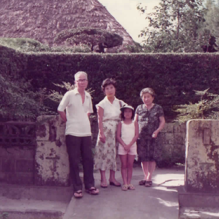 my lovely grandparents and myself(Reiko) when I was young
